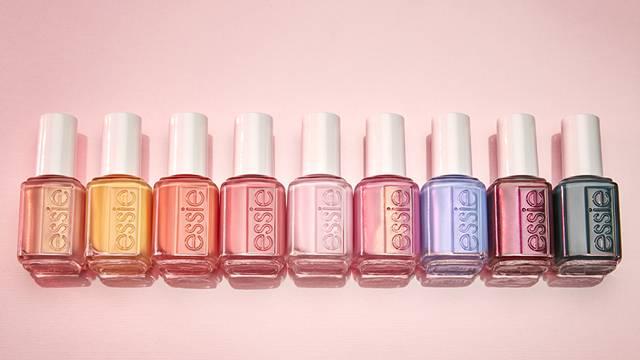 Close up of all nine nail polish colours