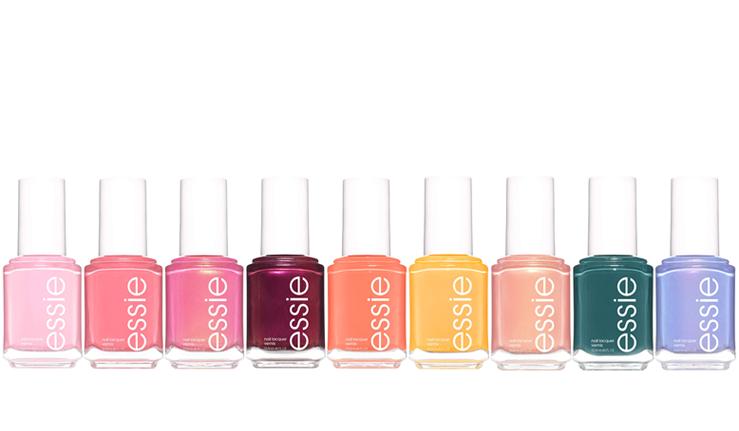 Stock images of the nine nail varnish shades