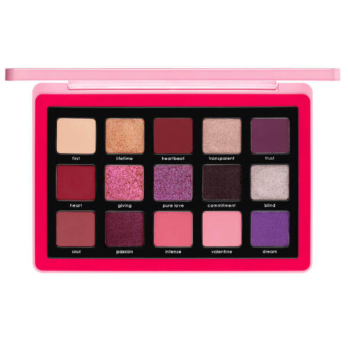 Look inside and see the eyeshadows