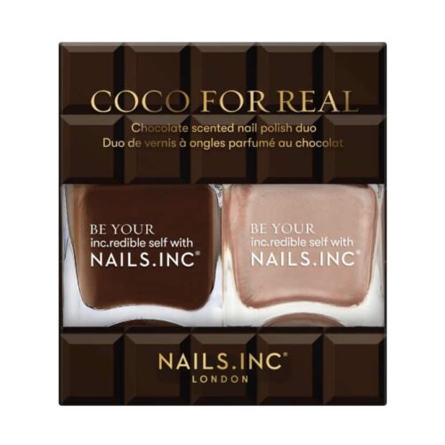 Nails Inc Coco For Real Chocolate Scented Nail Polish Duo