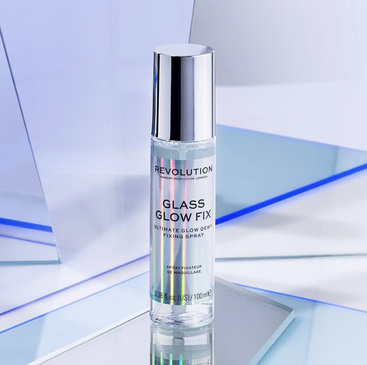 Revolution Glass Glow Fix Dewy Fixing Spray