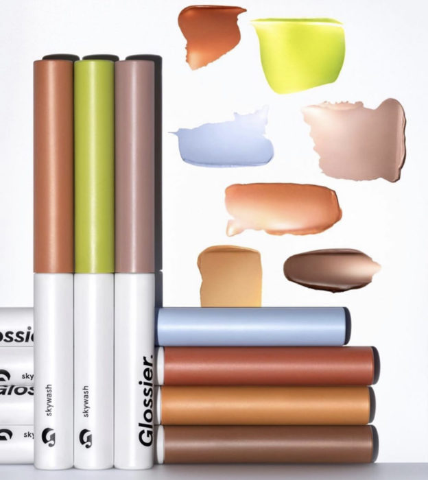 Glossier Skywash Sheer Matte Lid Tint Collection