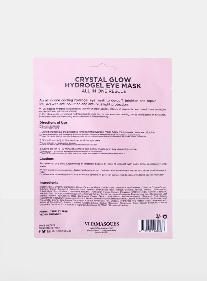 Vitamasques Crystal Glow Hydrogel Eye Mask