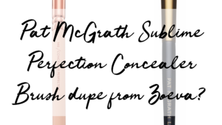 Pat McGrath Concealer Brush Vs Zoeva Concealer Brush - Dupe Alert!