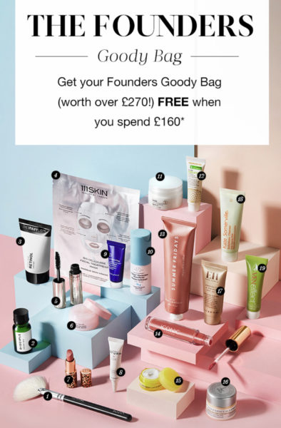 Cult Beauty The Founders Goody Bag 2020 2