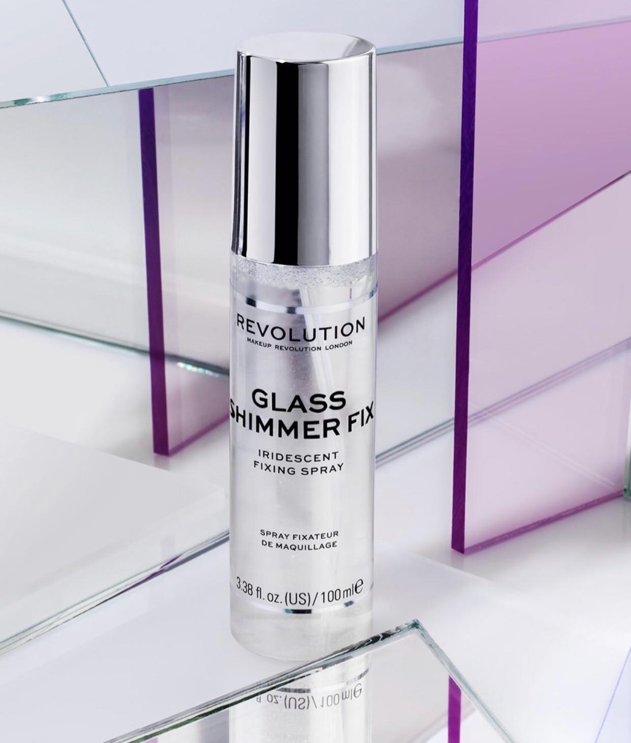 Revolution Glass Shimmer Fix Iridescent Fixing Spray