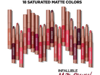 L'Oreal Infallible Matte Lip Crayon Collection