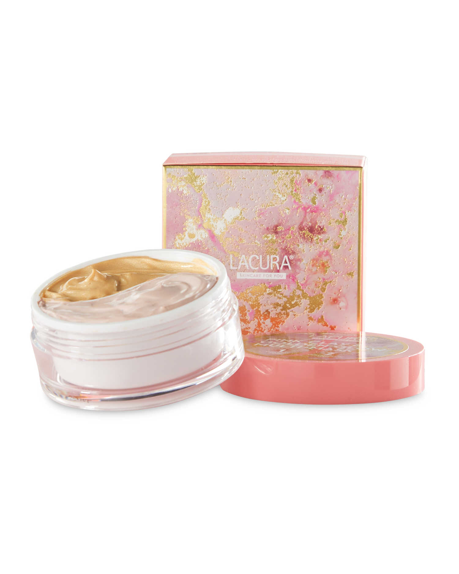 Aldi Lacura Pink Clay and Golden Glow Multi-Mask