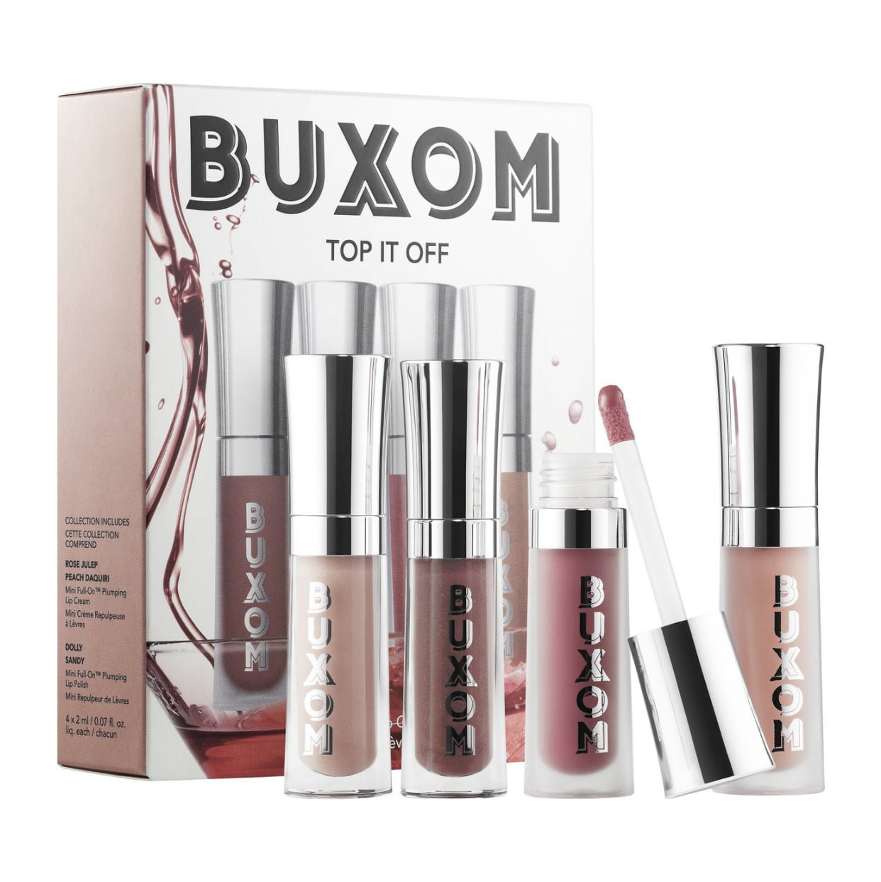 Buxom Top It Off Plumping Lip Gloss Set