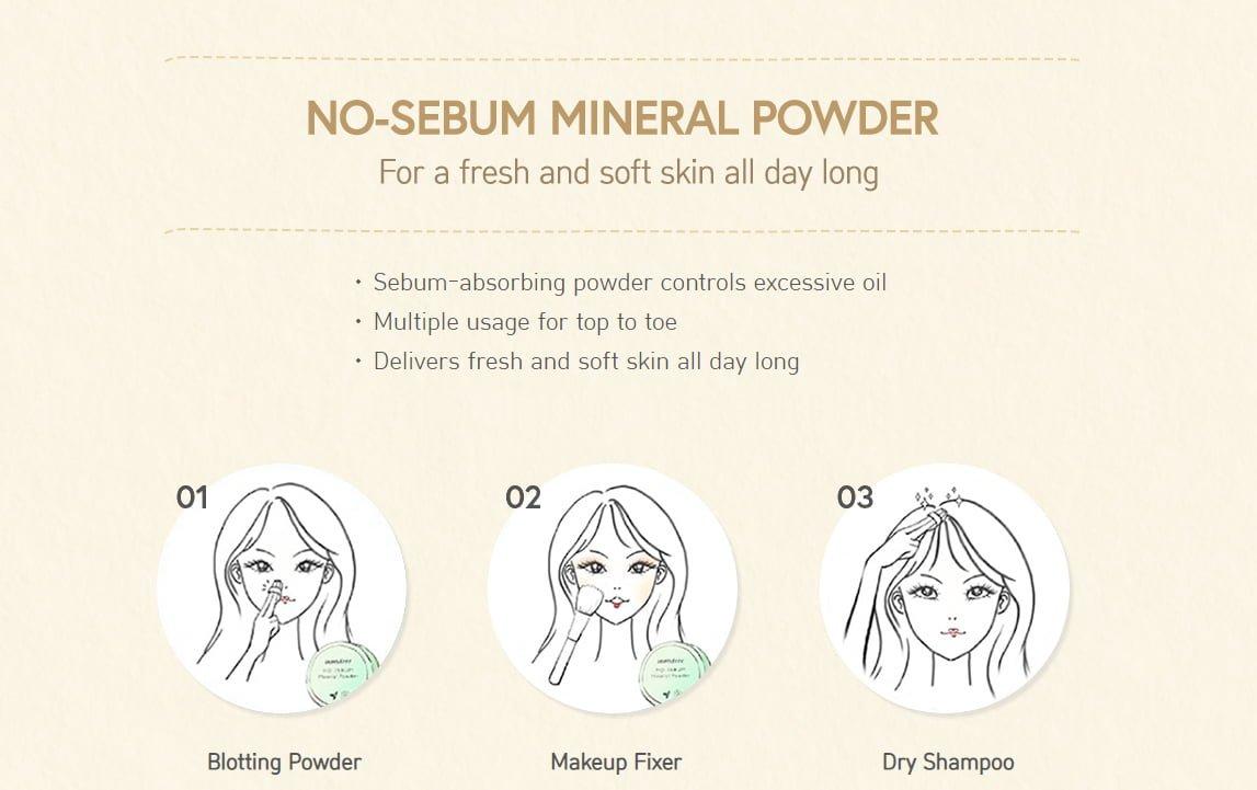 Innisfree Mentos No Sebum Mineral Powder Collaboration