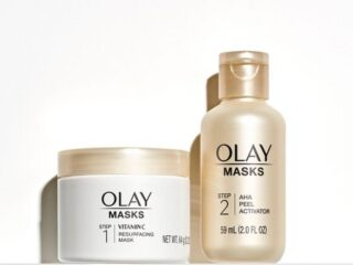 Olay Radiant AHA Resurfacing Peel Face Mask