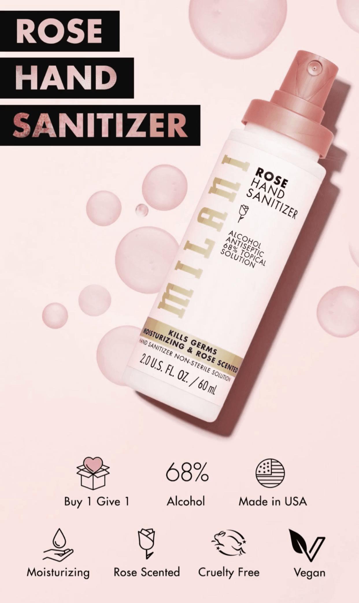 Milani Rose Hand Sanitizer