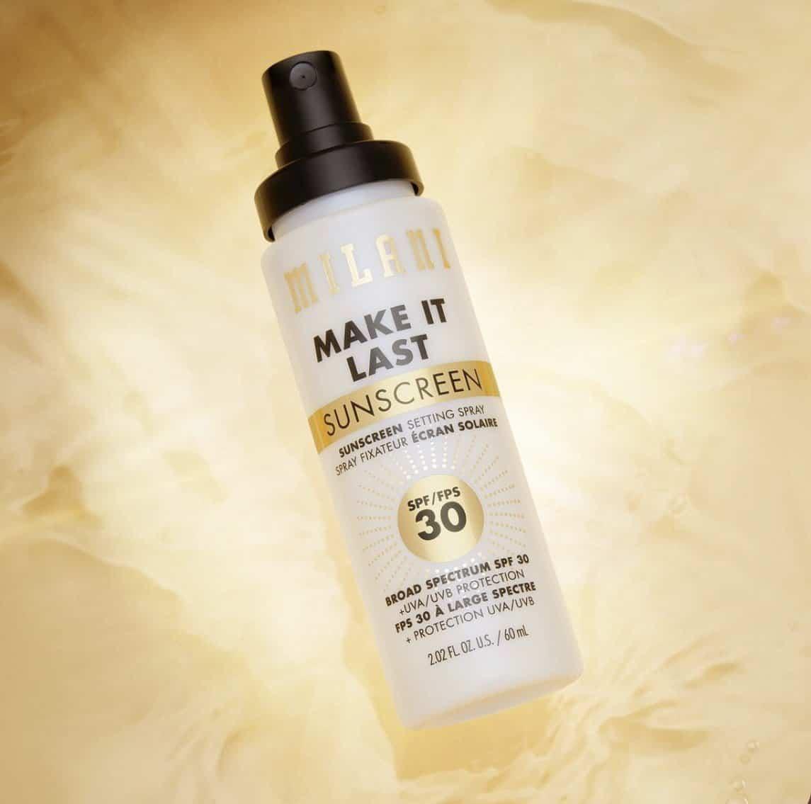 Milani Make It Last Sunscreen Setting Spray