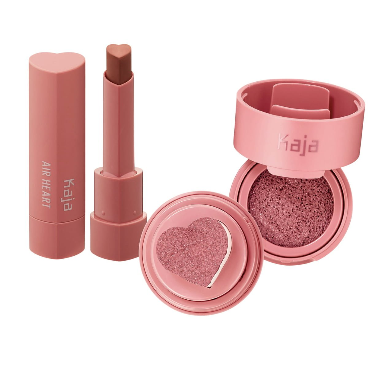 KAJA Air Heart Lipstick and Cheeky Stamp Blush Set