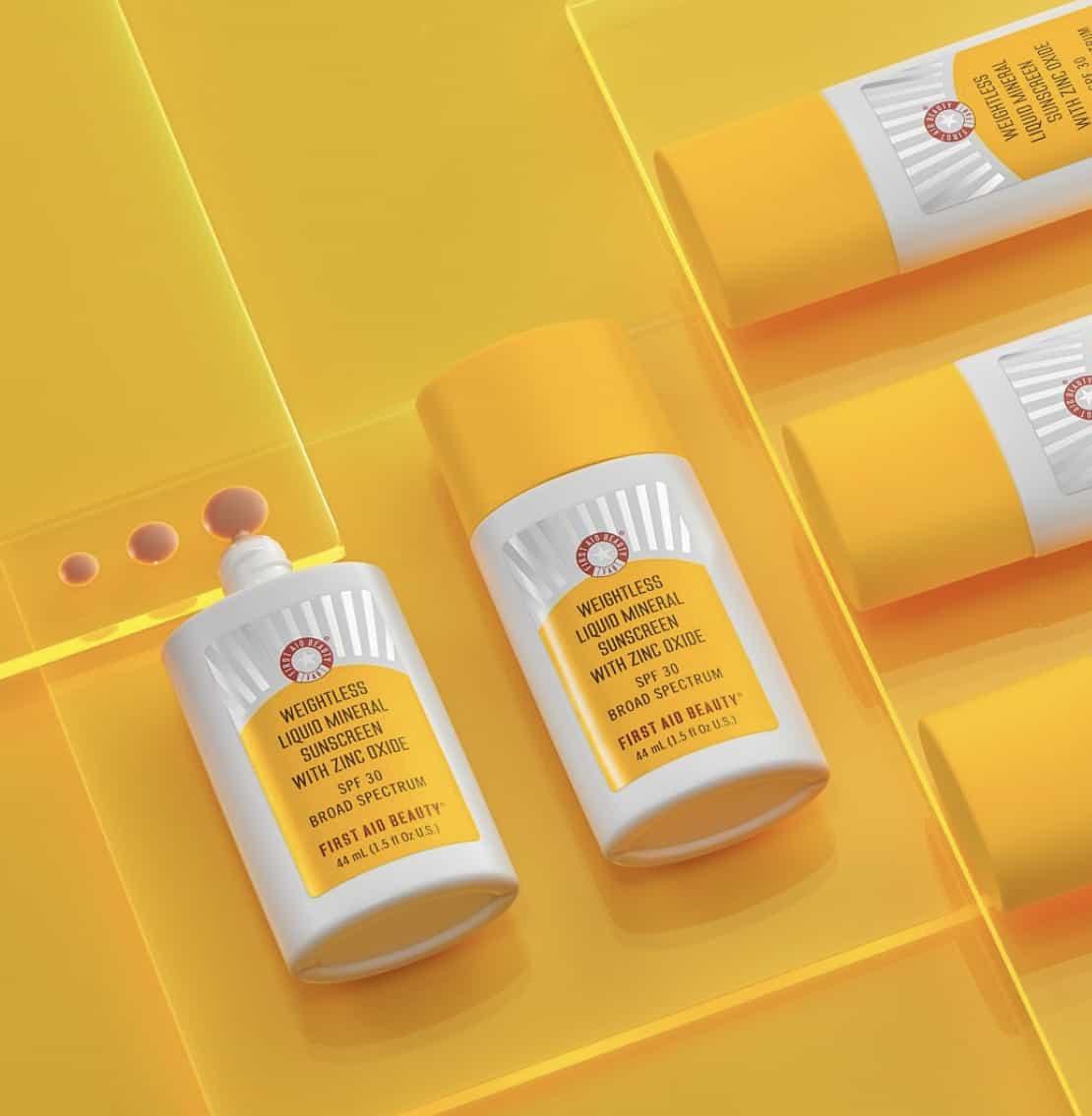 First Aid Beauty Weightless Liquid Mineral Sunscreen