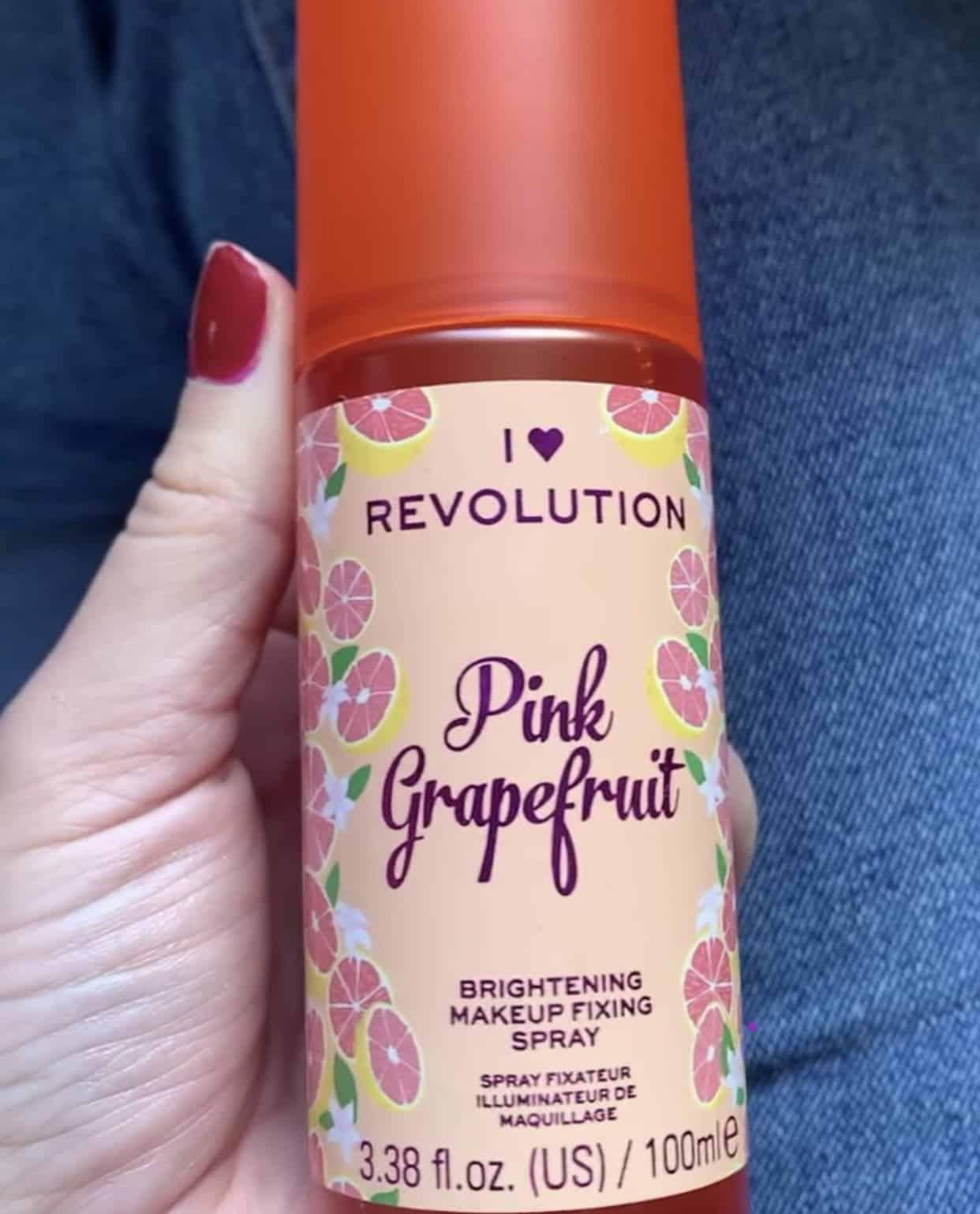 I Heart Revolution Pink Grapefruit Brightening Makeup Fixing Spray
