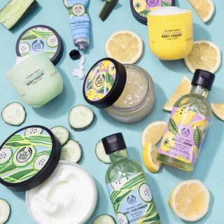 The Body Shop Cool Cucumber and Zesty Lemon Summer Collections