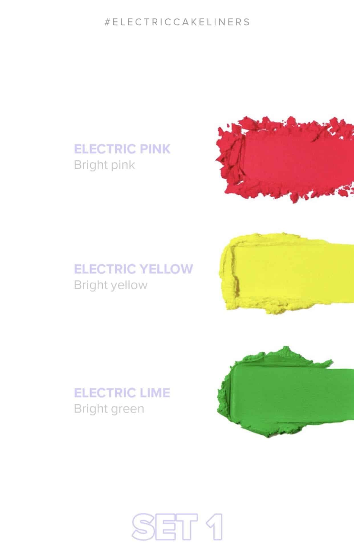 Anastasia Beverly Hills Norvina Electric Cake Liners - Electric & Neon