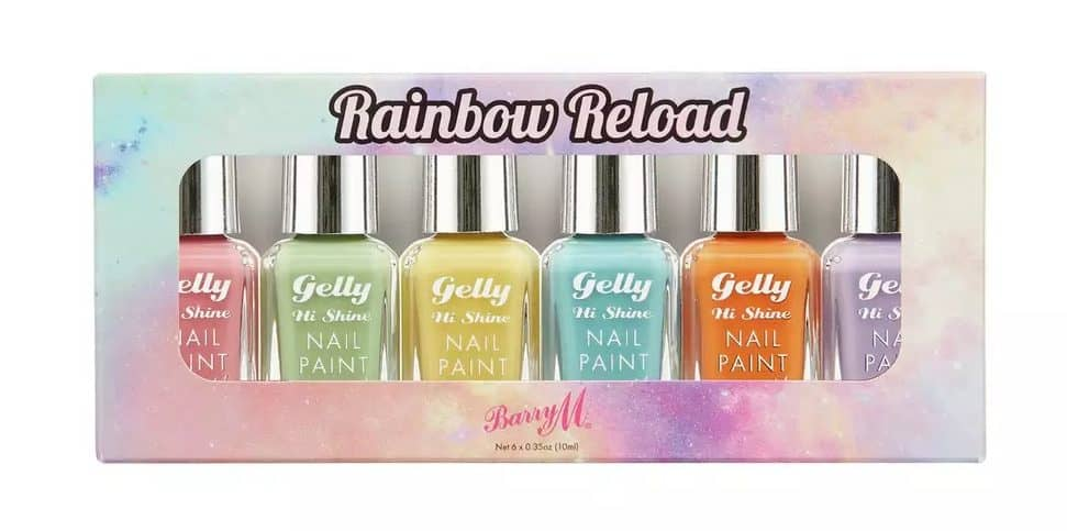 Barry M Cosmetics Rainbow Reload Nail Paint Set