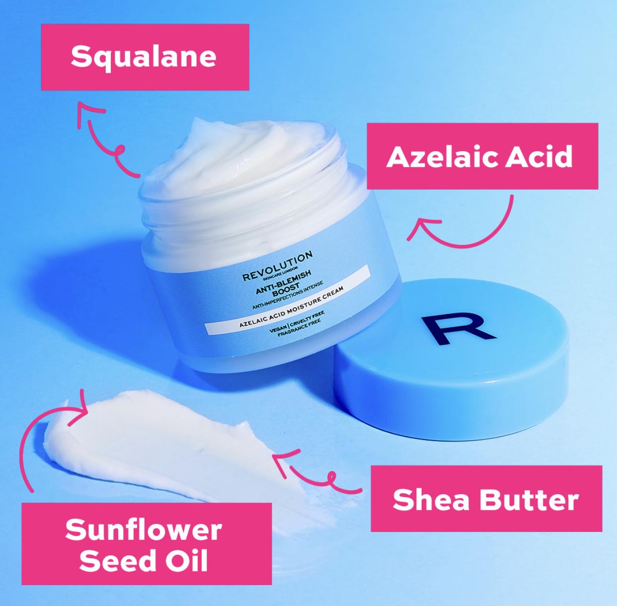Revolution Skincare Anti Blemish Boost Azelaic Acid Moisture Cream 1