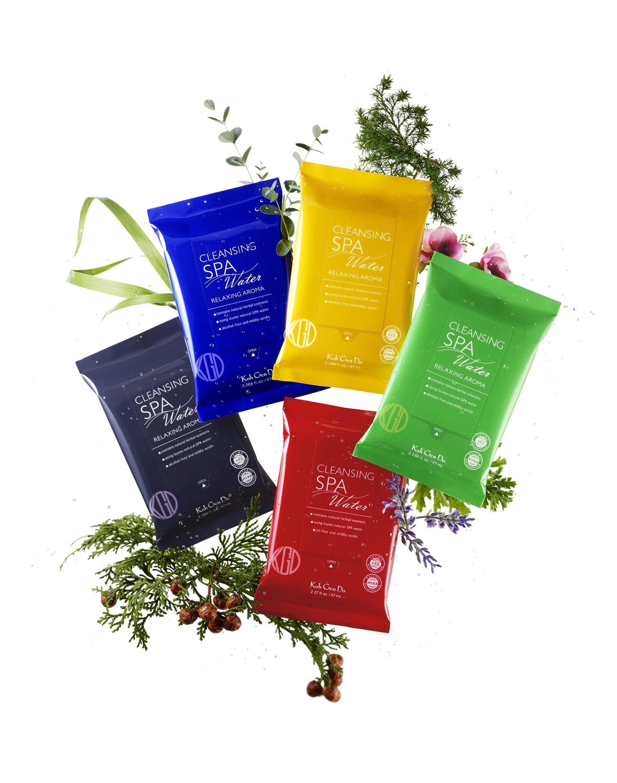 Koh Gen Do Spa Cleansing Cloths Relaxing Aromas
