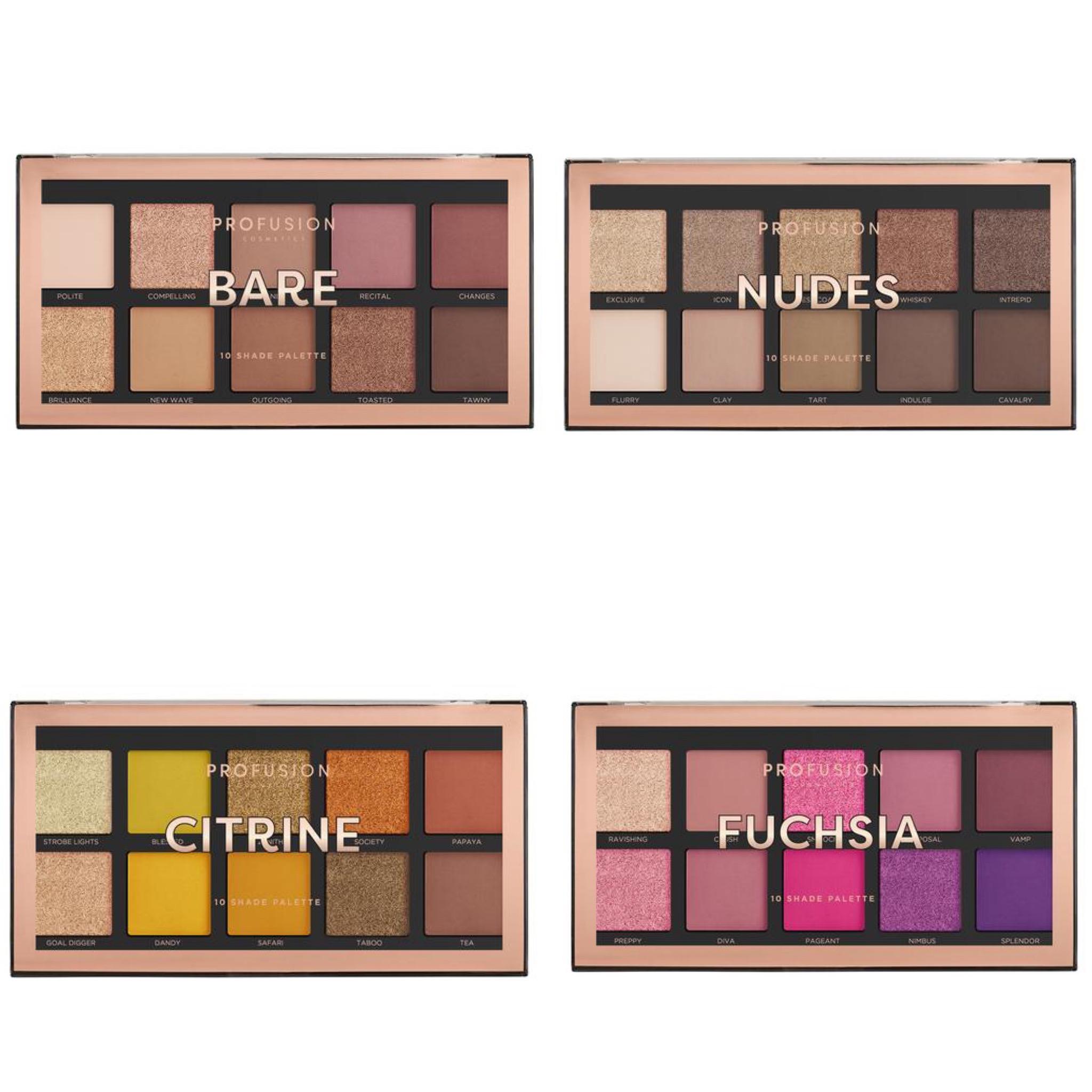 Profusion Cosmetics 10 Shade Palette