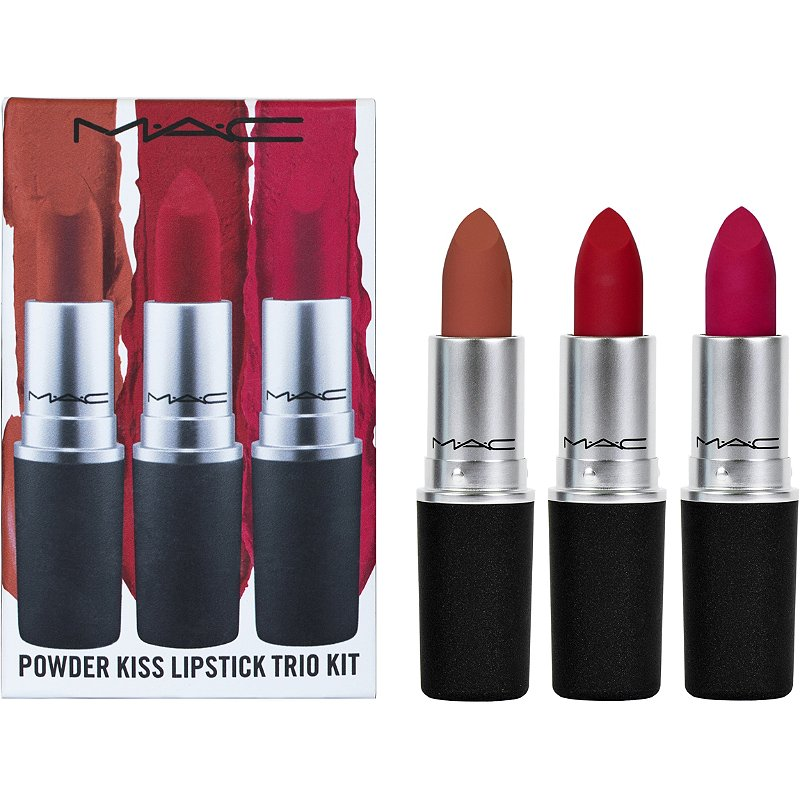 MAC Powder Kiss Lipstick Trio Kit