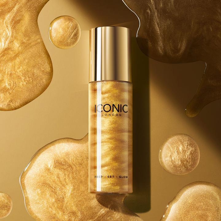 Iconic London Gold Prep Set Glow Setting Spray