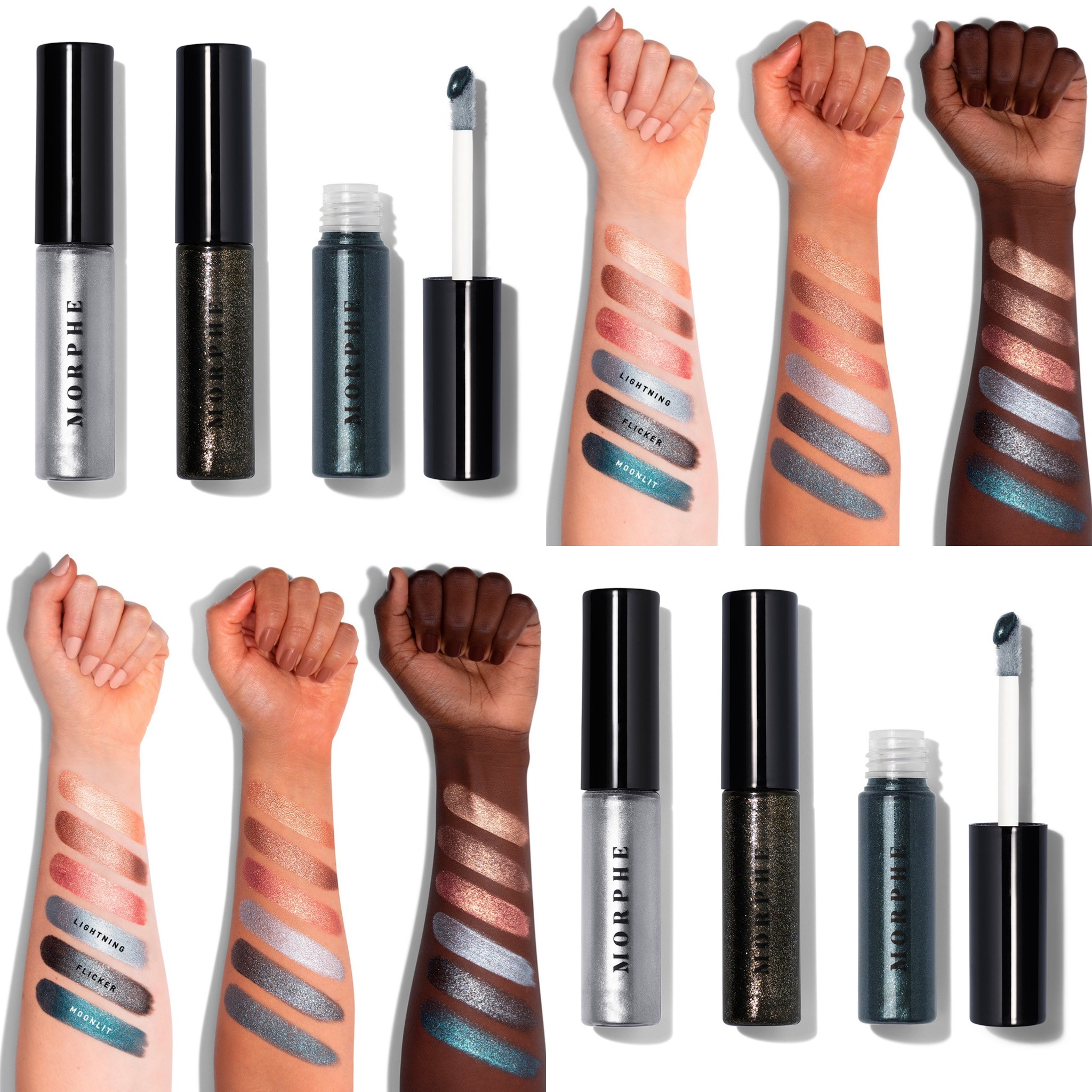 Morphe Metallic Eyeshadow Trio Collection
