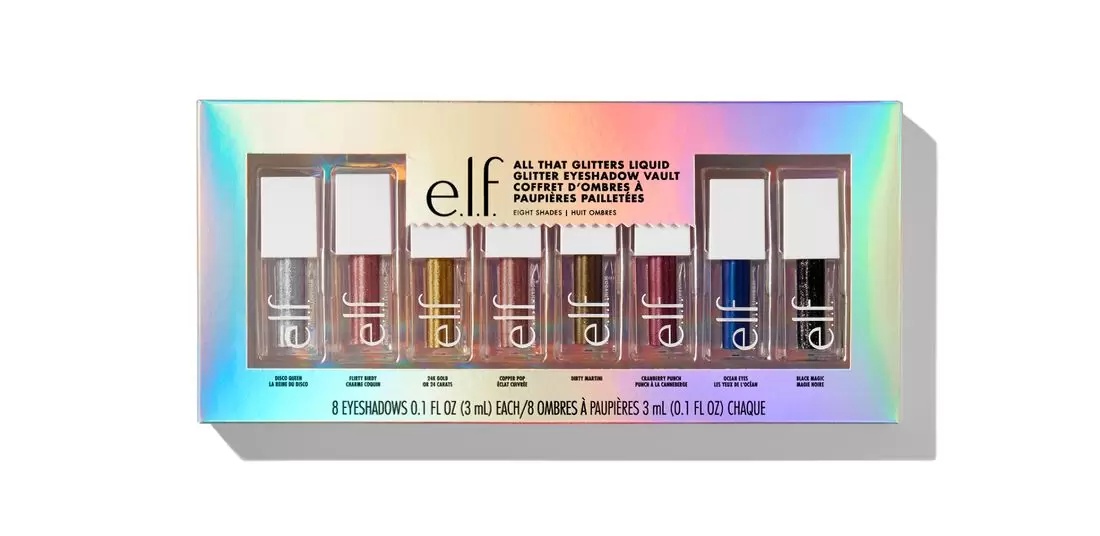 ELF All That Glitters Liquid Glitter Eyeshadow Vault