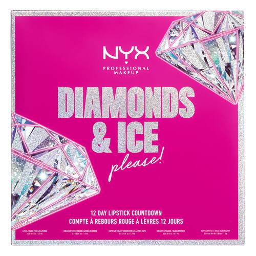 NYX Diamonds & Ice Please 12 Day Lipstick Countdown Advent Calendar 2020 Contents Reveal