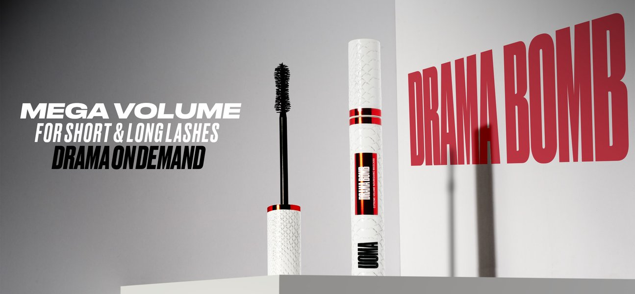 UOMA Beauty Drama Bomb Extreme Volume Nourishing Mascara