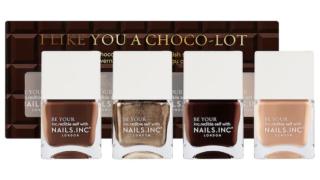 Nails Inc I Like You a Choco-Lot Nail Polish Quad Set