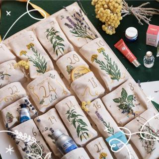 L'Occitane Hand Illustrated Reusable Advent Calendar 2020