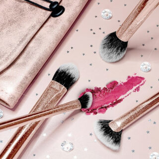 Real Techniques Rosy All Night Makeup Brush Set