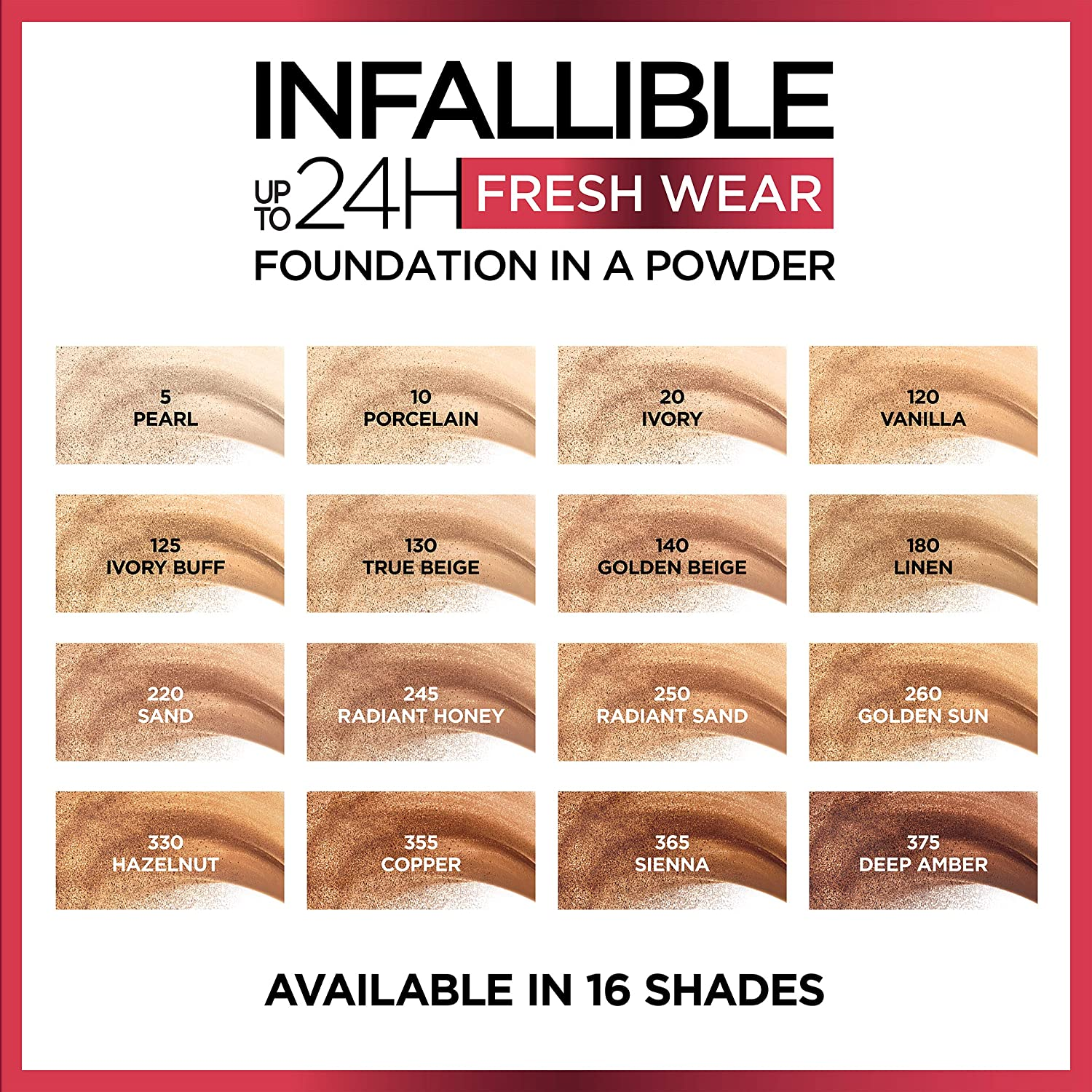 L Oreal Infallible Fresh Wear Foundation In A Powder Exciting New Launch 24h