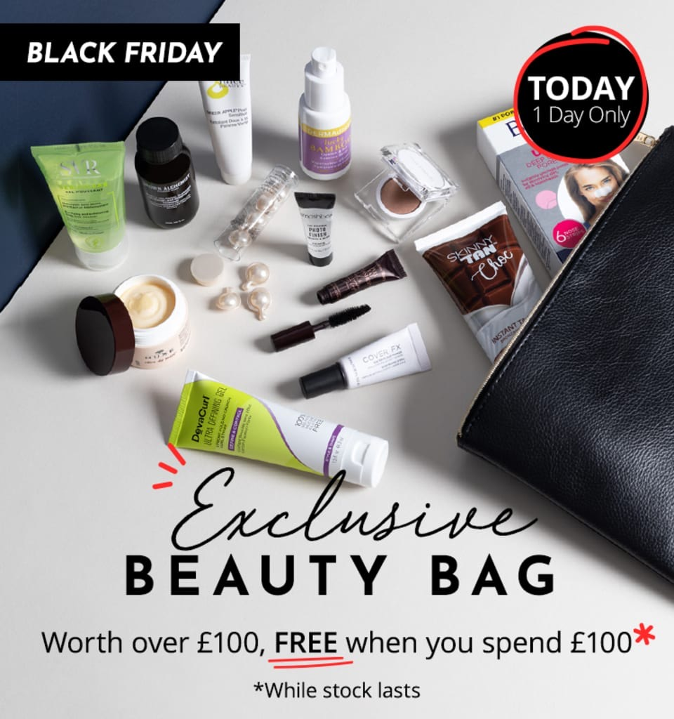 Feelunique Exclusive Black Friday Beauty Bag GWP!