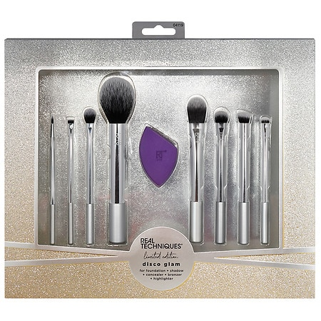 real techniques disco glam brush set  new  exclusive 9