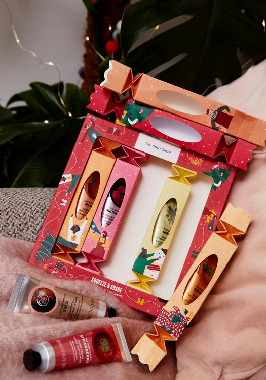 The Body Shop Squeeze & Share Hand Cream Crackers