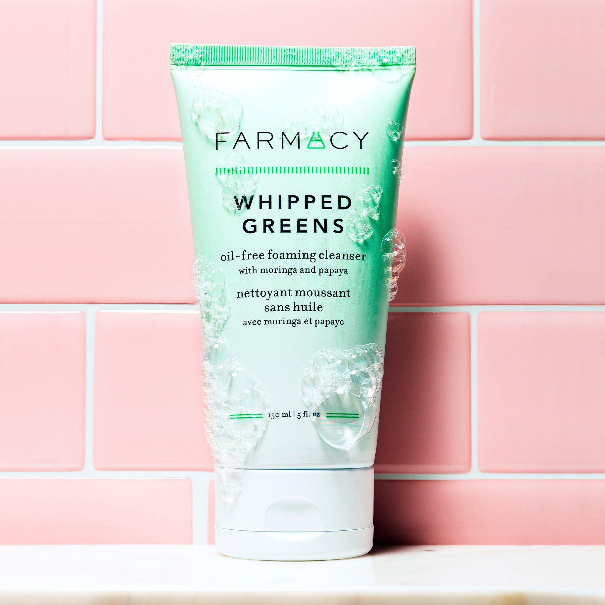 Farmacy Whipped Greens Oil-Free Foaming Cleanser
