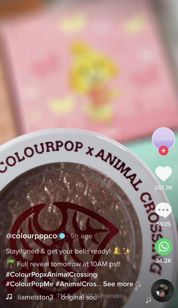ColourPop x Animal Crossing Collection 2021
