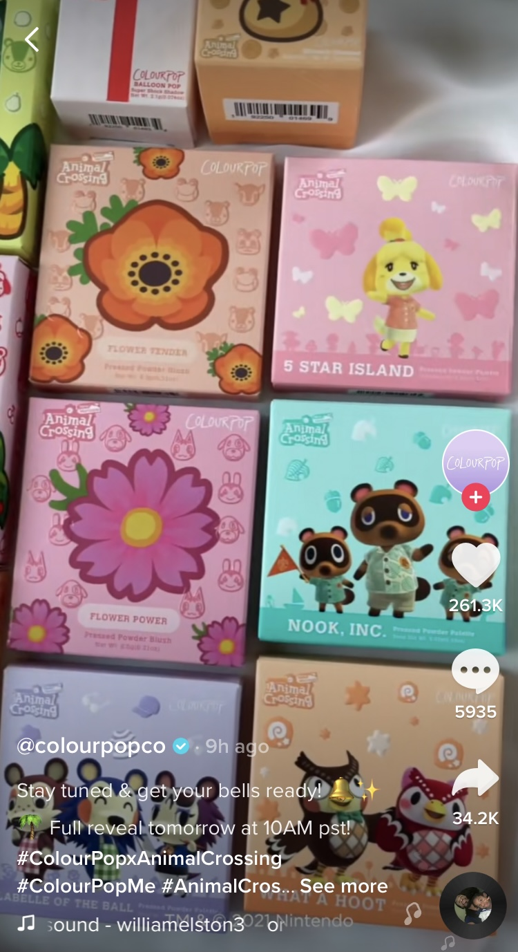 Colourpop X Animal Crossing Collection Exciting Collaboration 2021