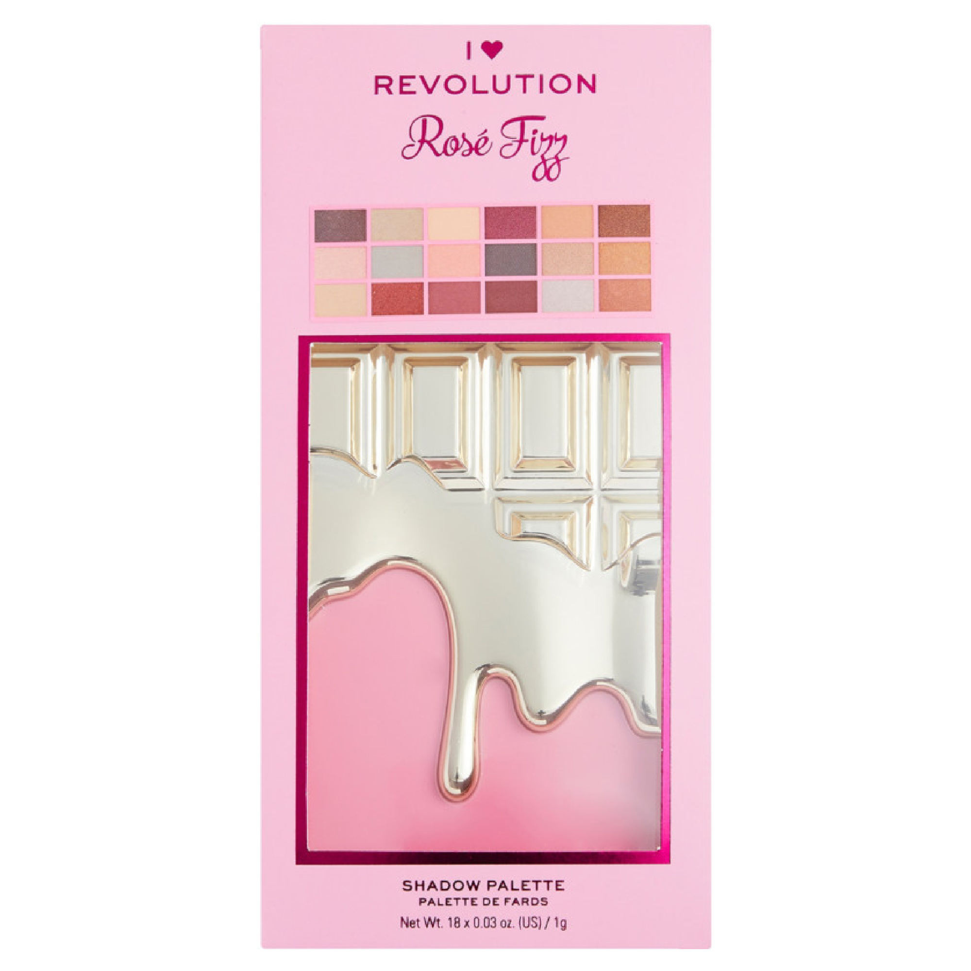 I Heart Revolution Rose Fizz Chocolate Palette