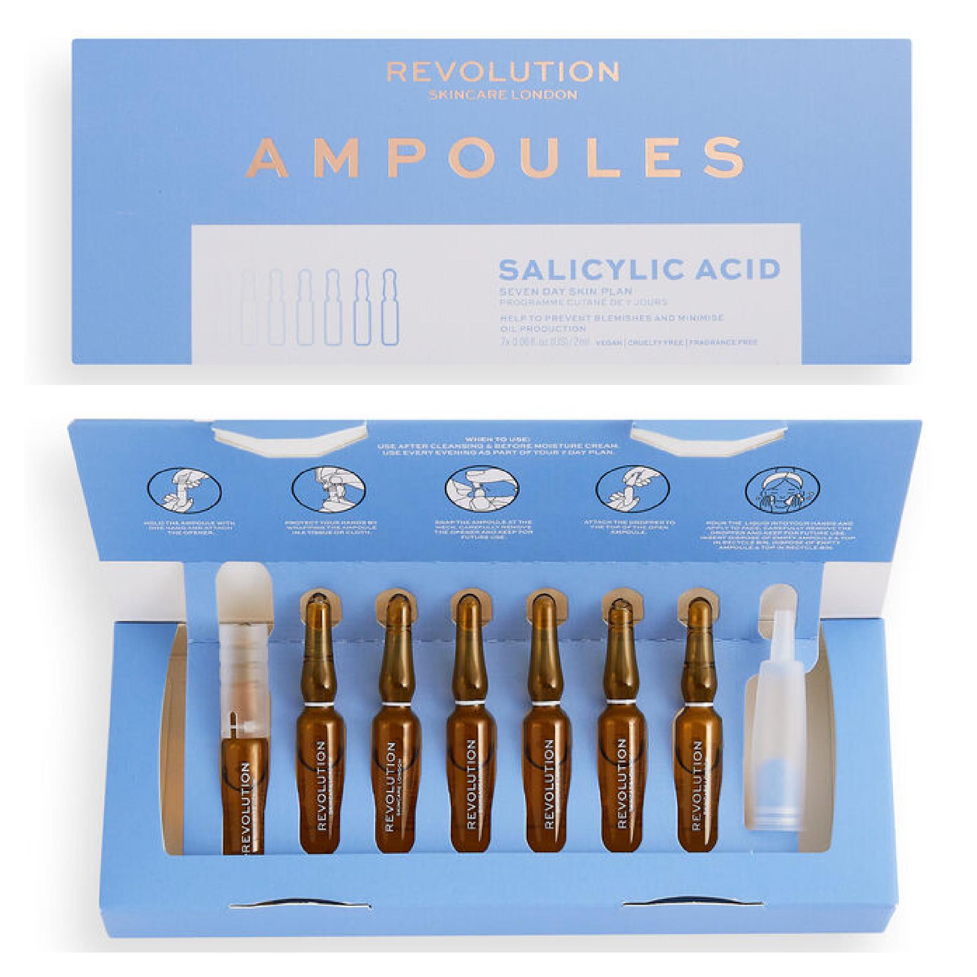 Revolution Skincare Salicylic Acid Ampoules 7 Day Skin Plan 1