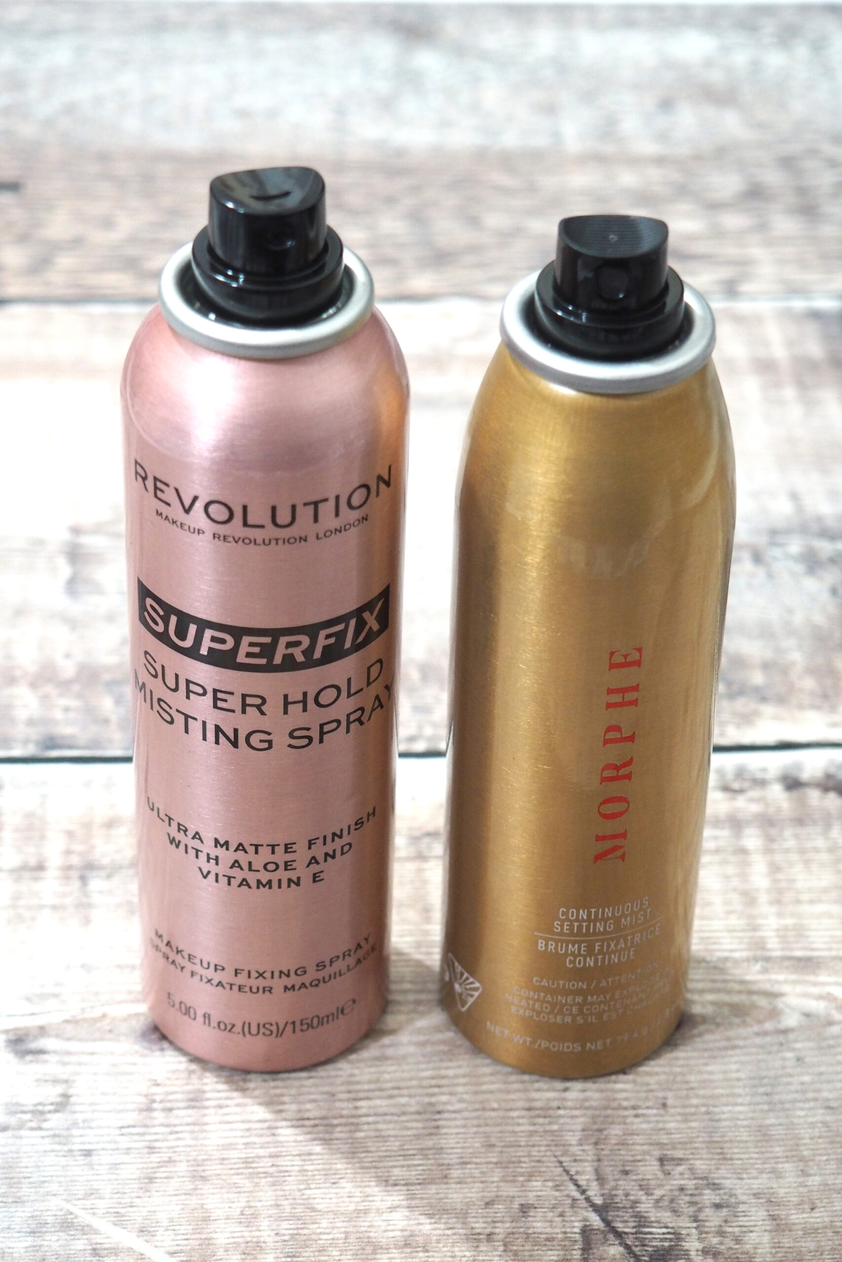 Revolution Superfix Super Hold Misting Spray Vs Morphe Continuous Setting Spray