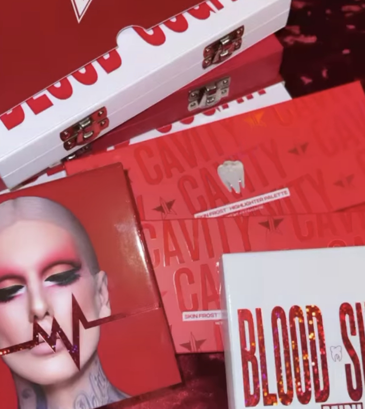 Jeffree Star Cavity Palette and Blood Sugar Anniversary Collection.