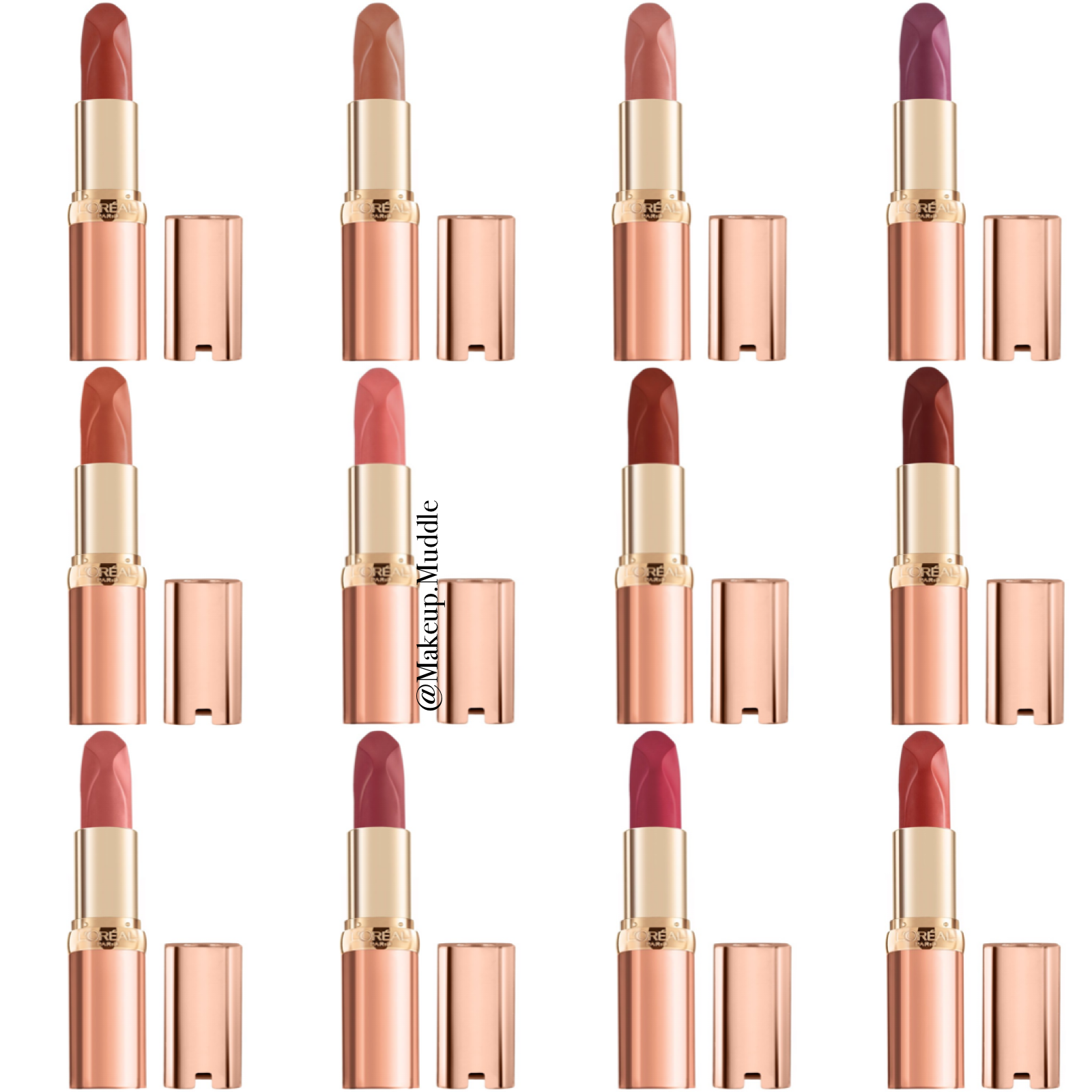 L'Oreal Colour Riche Les Nus Intense Lipstick Collection