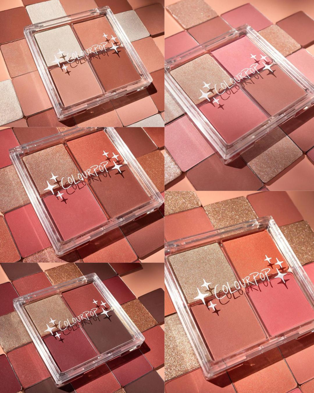 ColourPop Cheek Palette Quads Collection