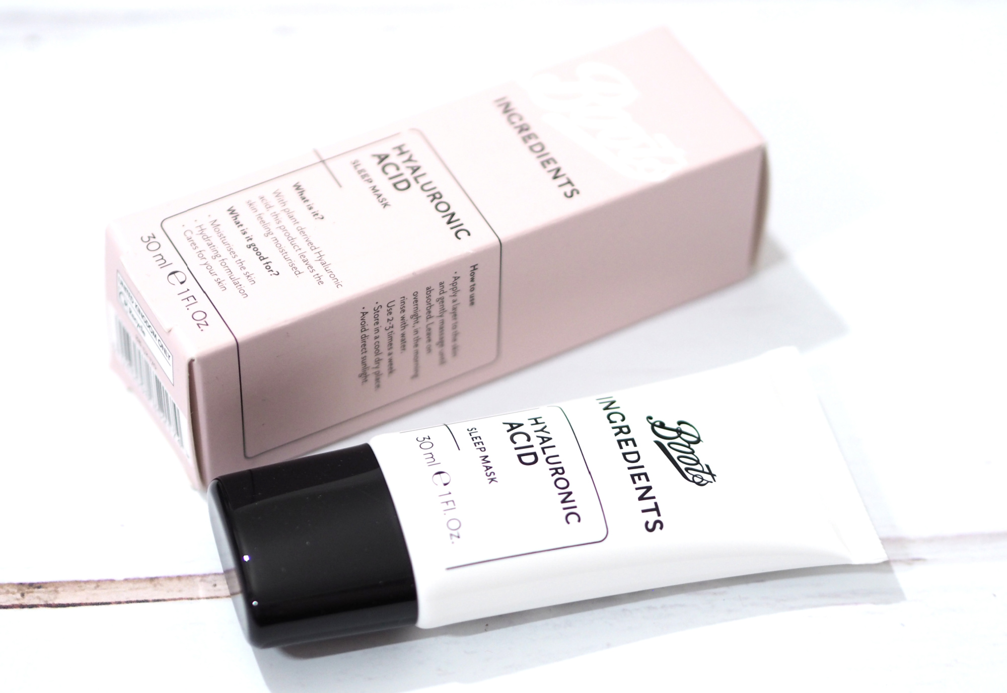 Boots Ingredients Hyaluronic Acid Sleep Mask Review