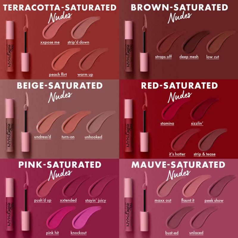 NYX Lip Lingerie XXL Matte Liquid Lipstick Collection
